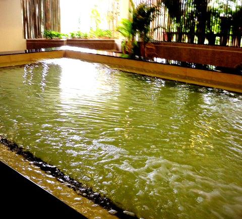 コンドミニアムの中の温泉