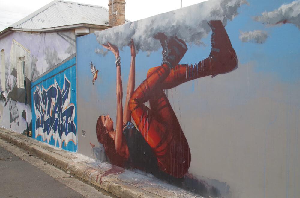 オーストラリアで有名なグラフィティアート