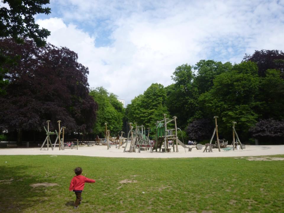 アントワープは綺麗な公園がたくさん