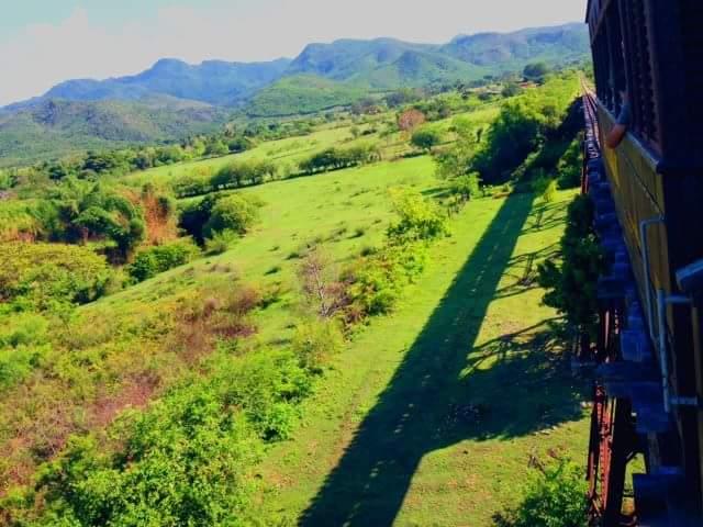 汽車からは絶景が広がります