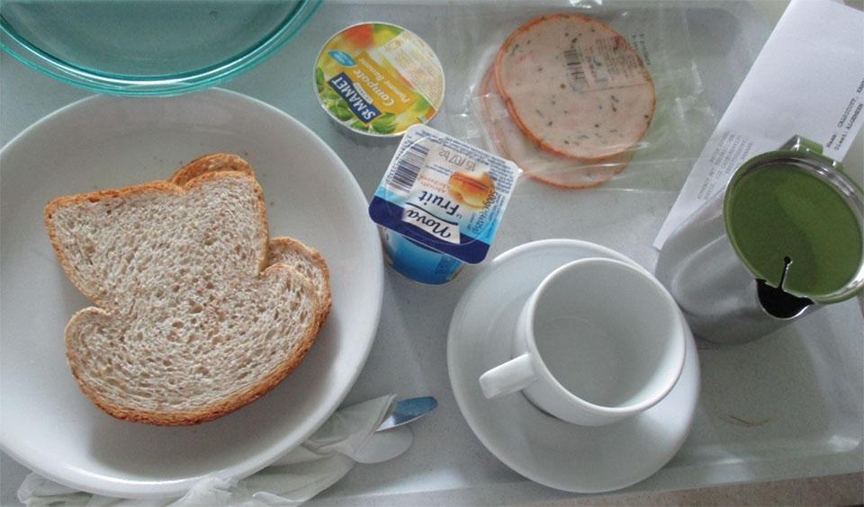 ベルギーの病院食