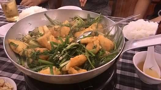 雷魚の野菜炒め(Cha Ca)