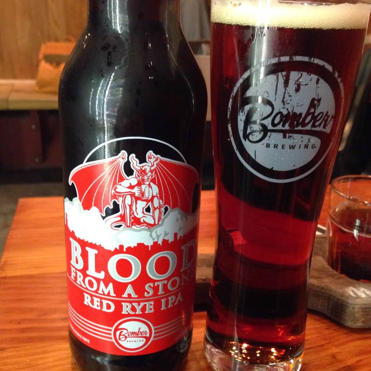 Bomber Blood From a Stone Red Rye IPA