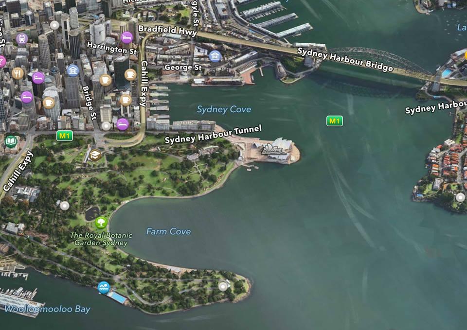 王立植物園の航空写真