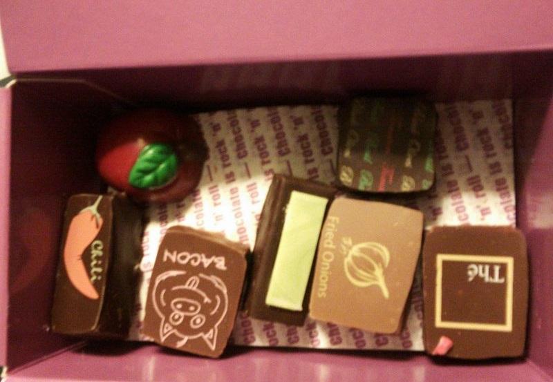 購入したチョコレート
