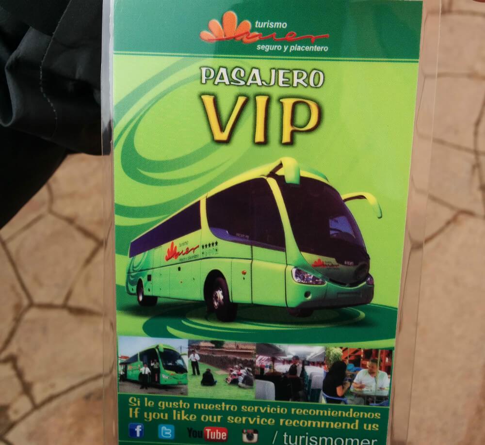 バスツアーのカード
