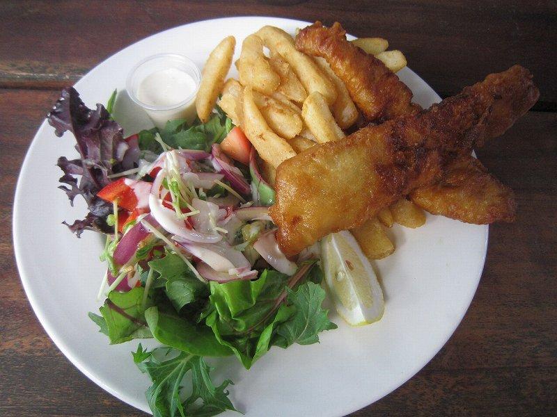 Fish & chips & salad