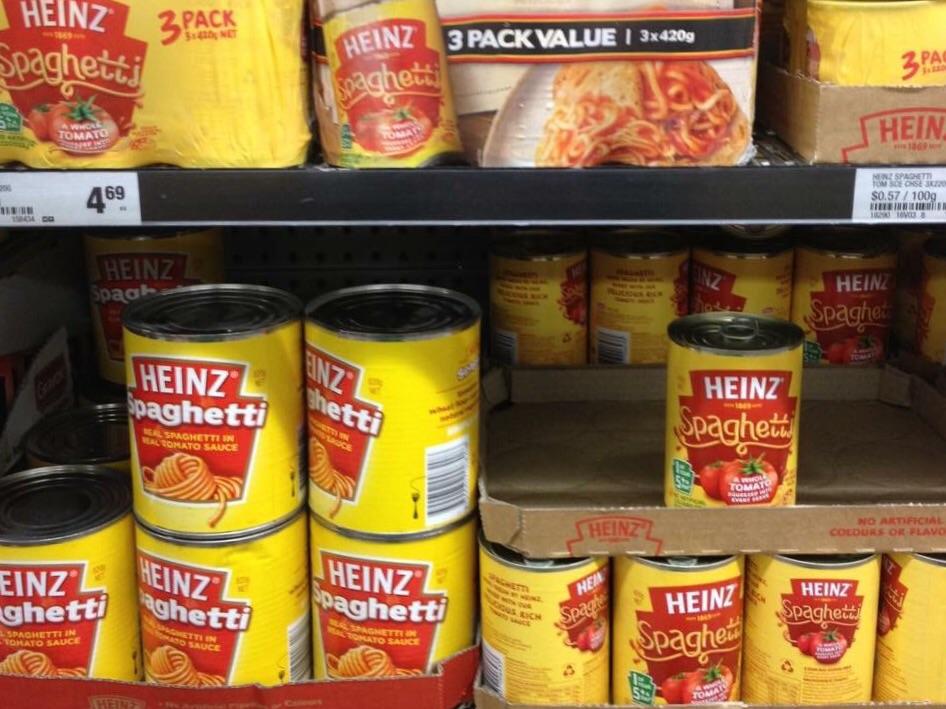 缶入りスパゲッティ