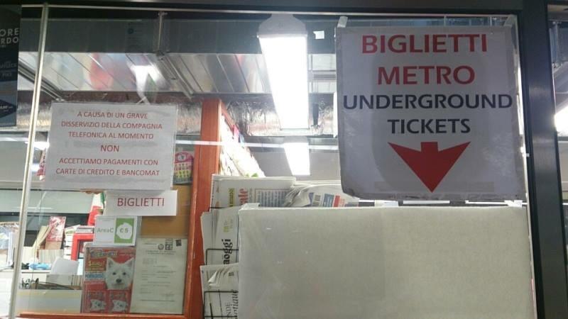 BIGLIETTI METRO(地下鉄切符)