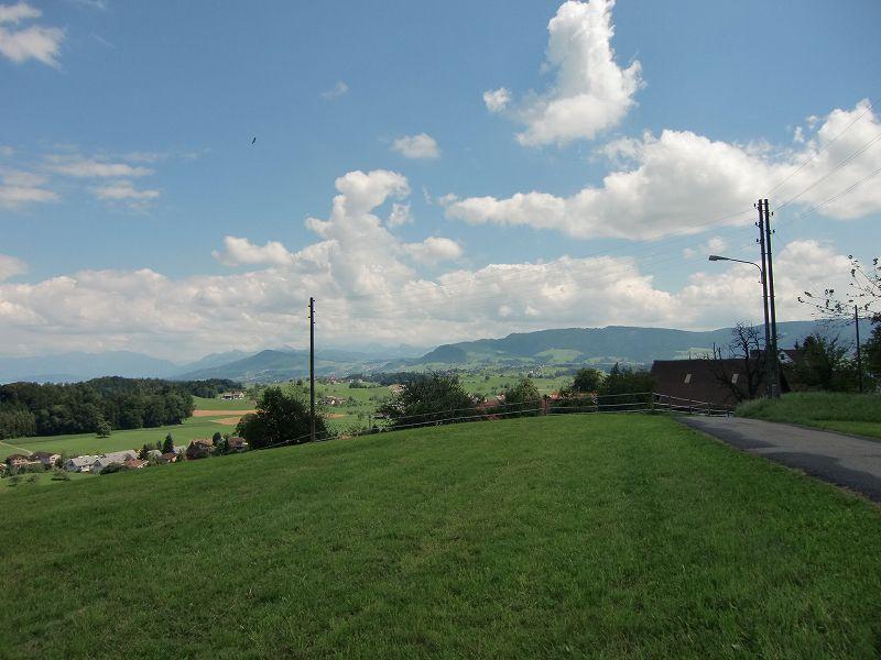 ヨハンナ・スピリ(Johanna Spyri)の記念館の近くからの景色