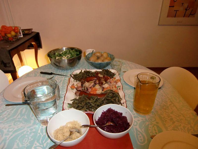 スイスでの最後の晩御飯