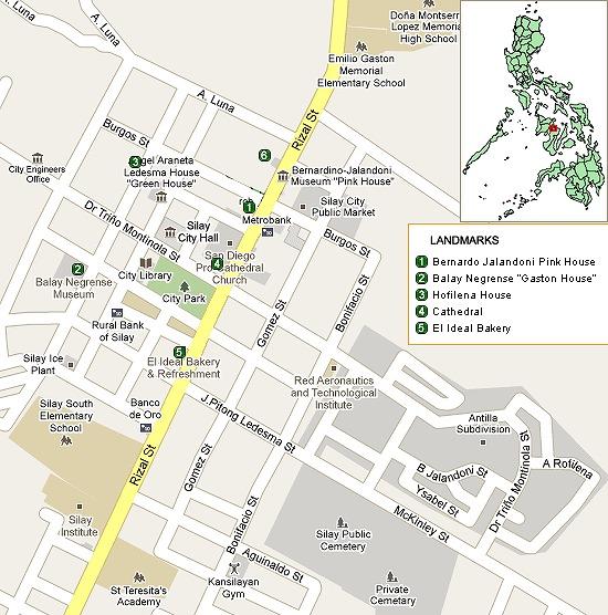 これがシライ市の地図の一部です。