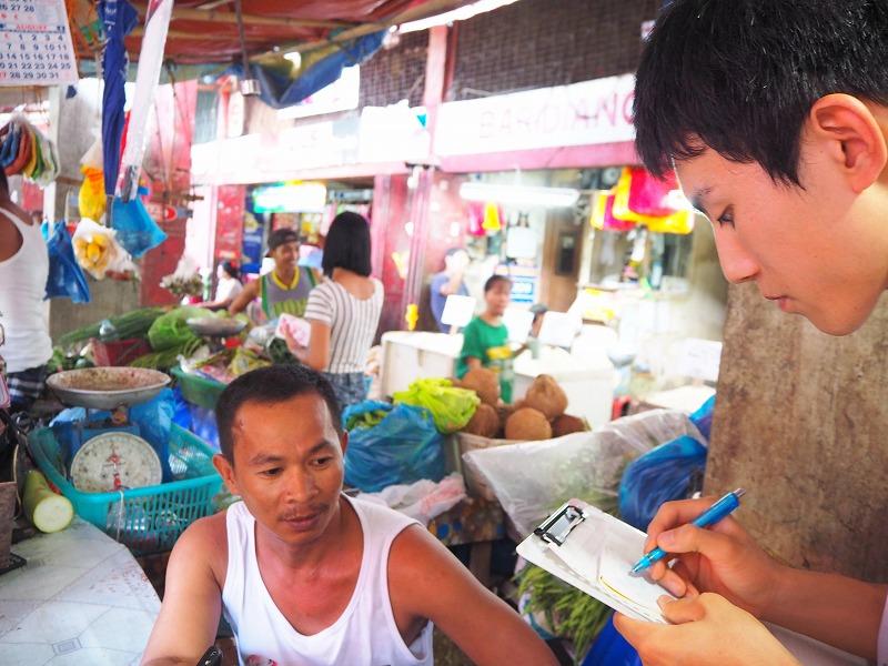 """⒊フィールドワーク ログ:驚愕の事実!(◎_◎;) チキンとマンゴーの国フィリピンで、フィリピン人の野菜嫌いは""""大ウソ""""だった❓"""