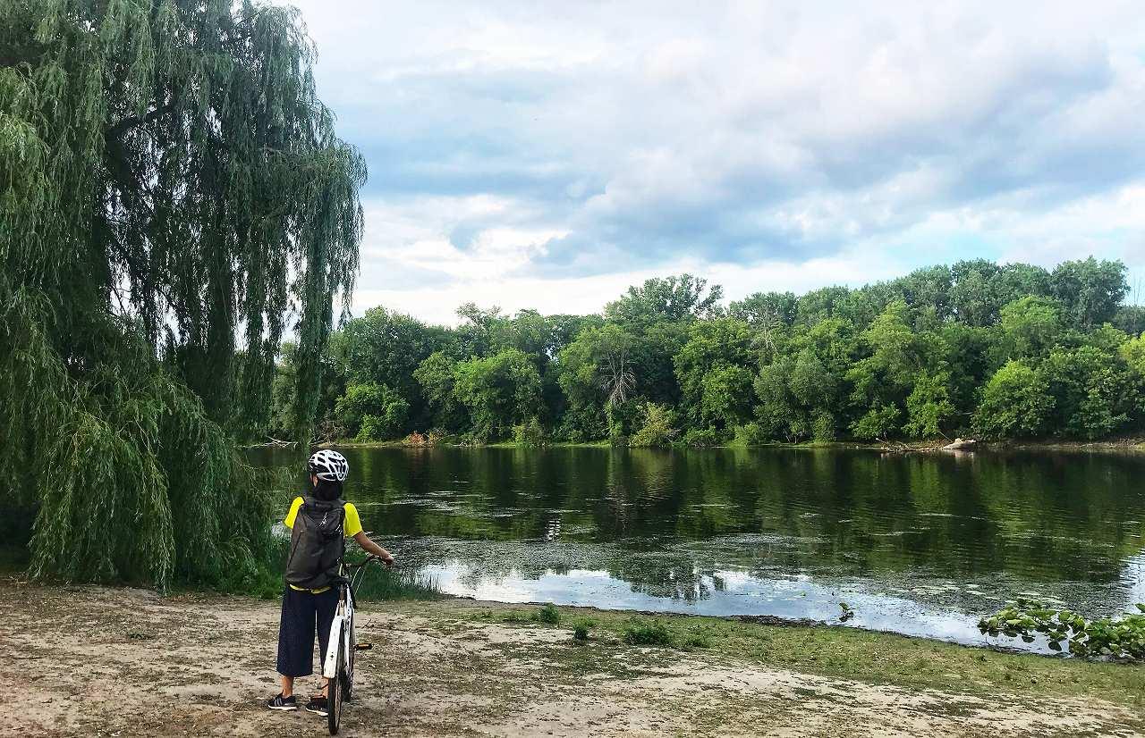 夏はサイクリング